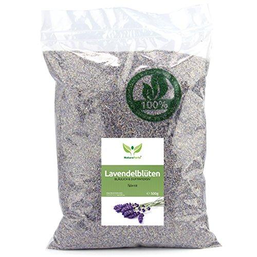 Kerze Duftenden Duft-Öl (NaturaForte Lavendelblüten 500g Lavendel ohne Zusätze - Bläulich - Intensiver Duft - Getrocknete Lavendel Blüten - Für Duftkissen, Lavendeltee oder Lavendelsäckchen - Potpourri Duft)