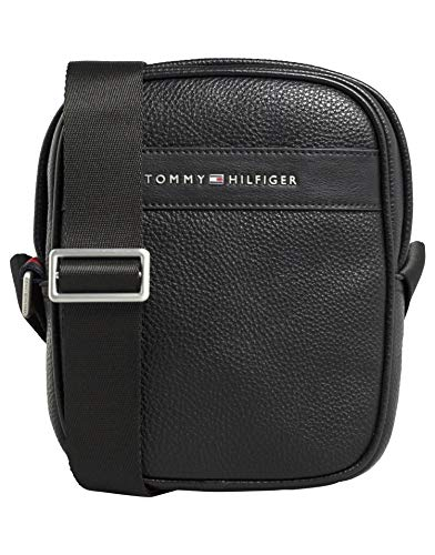 Tommy Hilfiger Herren Th Business Mini Reporter Geldbörse, Schwarz (Black), 1x1x1 cm