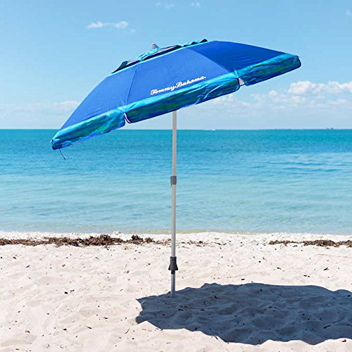 Tommy bahama, ombrellone da spiaggia, 2,1m, blu