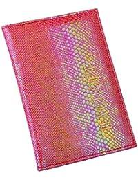 Oliviavan Lagarto titolare del Pasaporte Pasaporte de Cubierta Blanda Protector Cartera Business Card lo Estilo de Moda Naranja Rojo 9,8 cm…