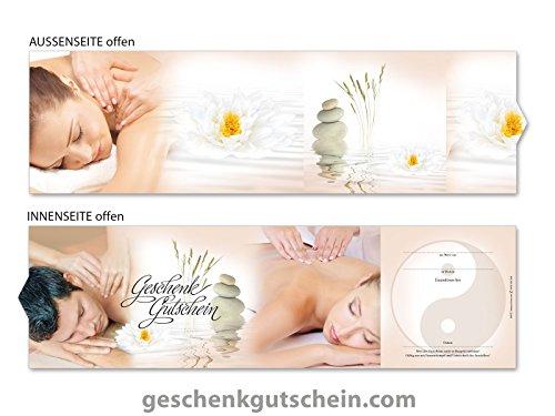 10 Stk. Premium Booklet Gutscheine für Physiotherapie, Massage, Wellness, Spa MA707, LIEFERZEIT 2 bis 4 Werktage !