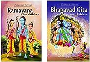 Ramayana & Bhagvad Gita for Children (Set of 2 Premium Quality Bo