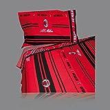A.C. Milan–Bettwäsche–Full bedsheets rot schwarz–Red Black Cm 150x290 - 59