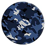 CHRMA Expanding Stand and Grip for Smartphones and Tablets, Multi-Function Mounts and Holder, Pop Mount Holder Socket for Cell Phone - Blue Camouflage Black