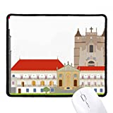 DIYthinker Portugal Coimbra Größere Sehenswürdigkeit Gebäude Griffige Mousepad Spiel Büro Schwarz Titched Kanten Geschenk
