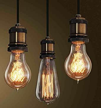 lightstyl suspension douille cuivre e27 decl 138 suspension vintage design industriel. Black Bedroom Furniture Sets. Home Design Ideas