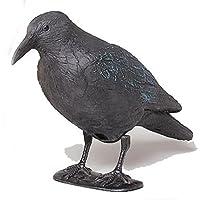 Star 140519 Statuetta di corvo, in plastica, 38 cm, colore: Nero