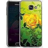 Samsung Galaxy A3 (2016) Housse Étui Protection Coque Jaune Rose Fleur
