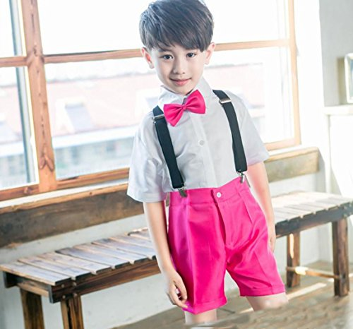 HUOFEINIAO Boys Dance Kostüme Kinder Modern Dance Jazz Kostüme Chorus Bibby Anzug,Pink,150
