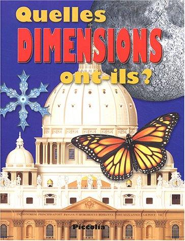 Quelles dimensions ont-ils ? par Nicholas Harris