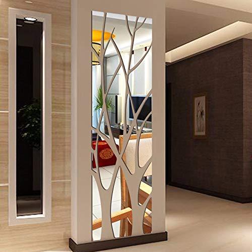 CAOQAO Modern Style Mirror DIY Home Wall Sticker, Detachable Art Sticker, Size: 100CM* 28CM, Open Blackout