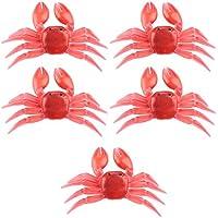 Dewin Señuelos de pesca - 5pcs/pack de PVC cebos de pesca realista realista cangrejo cebo artificial accesorios (rojo)