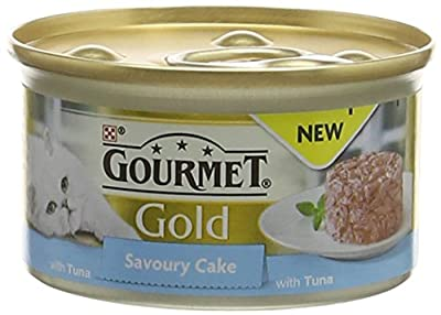 GOURMET Cat Adult Food Gold Savoury Cake Tuna Can, 85 g - Pack of 12 from Nestle Purina