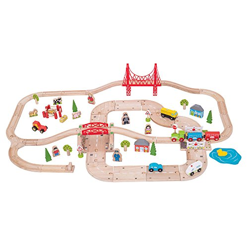 Bigjigs Rail Circuits de Train et de Route ruraux