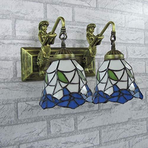 YDYG Tiffany Style Lámpara Pared Retro Rústico Vidriera