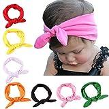Tininna 8pz cute Baby Girl Cross turbante fascia per capelli fiocchi capelli fascia copricapo copricapo