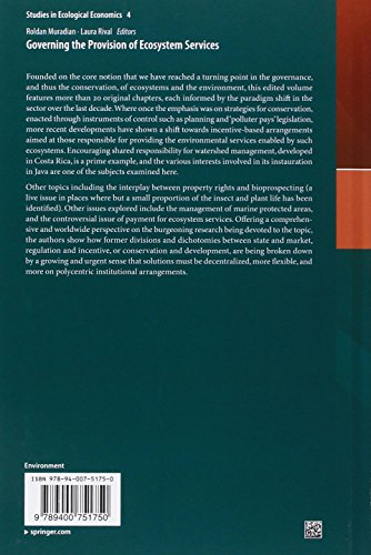 Governing the Provision of Ecosystem Services (Studies in Ecological Economics)