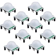 MUZOCT 10packs HC-SR501 Pyroelectric Infrared PIR Motion Sensor Modules For Microcontrollers
