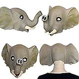XIAO MO GU Halloween Maske latex Elefant Tiermaske Kostüm -