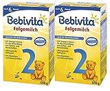 Bebivita 2 Folgemilch - ab dem 6. Monat, 2er Pack (2 x 500g)