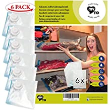 MY TO 6 sacos almacenamiento al vacio   MY VACUUM-BAG TO STORE   tamaño de los sacos 60 x 80 cm   menos 80% del volumen   para guardar-ropa, edredones, almohadas, mantas, cortinas de mountain forged