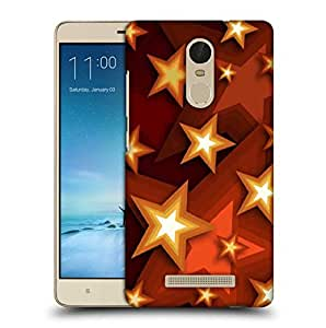 Snoogg Browny Stars Printed Protective Phone Back Case Cover For Xiaomi Redmi Note 3