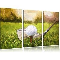Golfabschlag pennello effetto immagine Canvas 3 PC