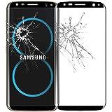 ebestStar - pour Samsung Galaxy S8 - Film écran en VERRE Trempé INCURVE anti casse anti-rayures (protection Intégrale, couverture complète des bords arrondis ou incurvés de l'écran), Couleur Noir [Dimensions PRECISES de votre appareil : 148.9 x 68.1 x 8 mm, écran 5.8'']