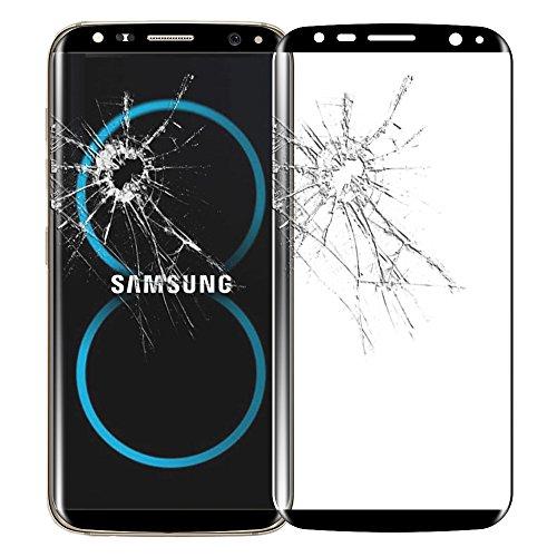 ebestStar - [Kompatibel mit Samsung Galaxy S8 Plus Hülle [S8+: 159.5 x 73.4 x 8.1mm, 6.2''] Panzerglas Schutzfolie Glas, Kurvenformige Displayschutz, Displayschutzfolie, Schwarz