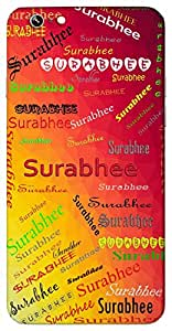 Surabhee (Popular Girl Name) Name & Sign Printed All over customize & Personalized!! Protective back cover for your Smart Phone : Micromax Canvas Juice 4G Q461
