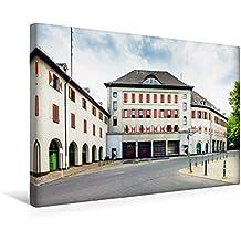 Calvendo Premium Textil-Leinwand 45 cm x 30 cm Quer, Feuerwache (Neukölln) | Wandbild, Bild auf Keilrahmen, Fertigbild auf Echter Leinwand, Leinwanddruck Orte Orte