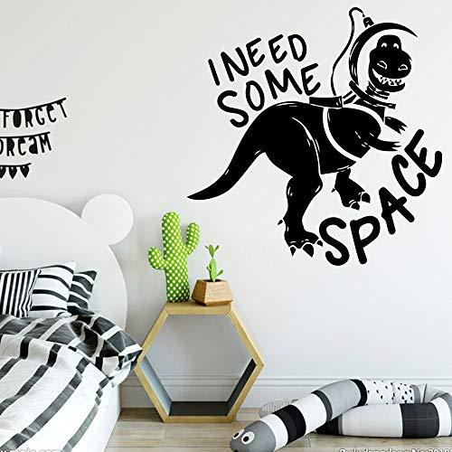 GJQFJBS PVC Dinosaurier Wandaufkleber moderne Mode Wandkunst Aufkleber Kinderzimmer Wandtattoo Dekoration A3 58cm X 58cm