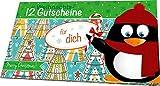 RNK 28730 Weihnachtliches Gutscheinheft für dich, 12 Gutscheine zum Heraustrennen