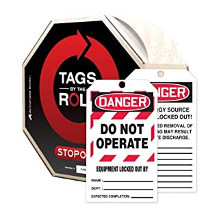 Accuform Signs TAR472 Tags By-The-Roll Lockout Tags, Legend