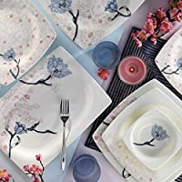 Kütahya Porselen Bone Mare 52 Parça Yemek Takımı Desen DG135, 12 Kişilik Yemek Seti