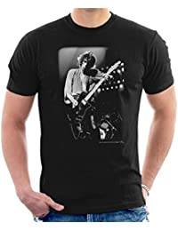 Richard E Aaron Official Photography - Keith Richards New Barbarians Playing Guitar 1979 Men's T-Shirt
