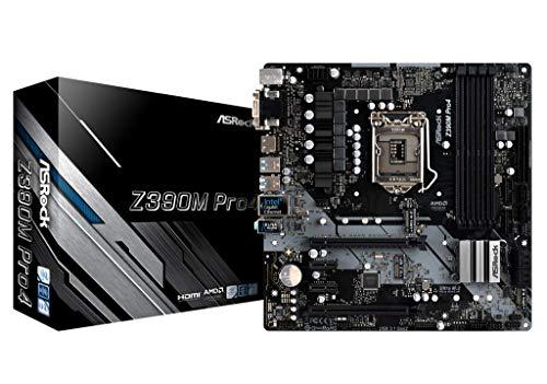 ASRock Z390M PRO4 Mainboard, Socket 1151, Micro ATX Motherboard, saphirschwarz. (Intel-basierte Motherboards)