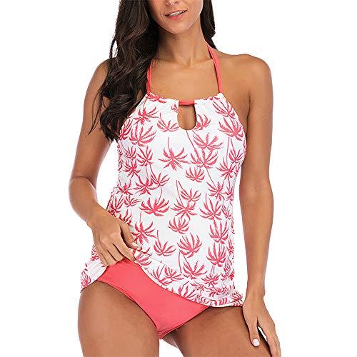 FELZ Conjunto Trajes de Baño Mujer,Estampado de Flores Bañador Premama Dos Piezas Ropa de Baño de Bikinis para Embarazadas Traje de baño Ropa de Playa Traje Embarazada Beachwear