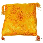 Coussin de bol - jaune orange