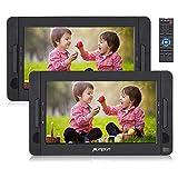 "PUMPKIN 10.1"" Portable DVD Player for Car Dual Screen Headrest Monitors with Inbuilt"
