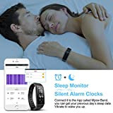 Mpow Fitness Tracker with Heart Rate Monitoring (BLACK)