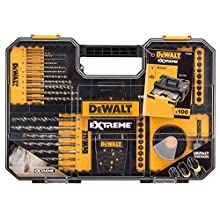 DeWalt DEWDT70620T Extreme Drill and SDS Set 100 Piece, Yellow, One Size, Set of 100