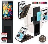 reboon Hülle für Gionee Elife E7 32GB Tasche Cover Case Bumper | Braun Wildleder | Testsieger