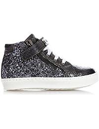 LIU JO - Sneaker grigia stringata in pelle e glitter 726641d9186