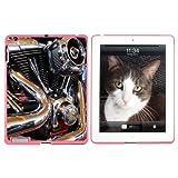 Motorrad Chrom Motor Zylinder Auspuff–Snap on Hard Schutzhülle für Apple iPad 234–Pink
