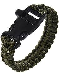 Pulsera Paracaidistas Del Cable Supervivencia - Aceituna Verde