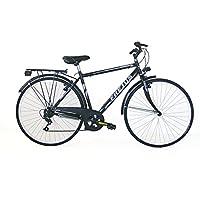 Frejus Manchester, Bicicletta da Città Uomo, Nero, M, 28 pollici