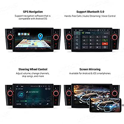 XTRONS-7-Android-90-Quad-Core-Autoradio-2GB-RAM-16GB-ROM-mit-Touchscreen-Multimedia-Player-Plug-und-Play-Autostereo-untersttzt-4G-WiFi-Bluetooth-DAB-OBD2-TPMS-FR-FIAT