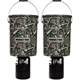 (2) Moultrie 6.5 Gallon 360 Pro-Hunter Bucket Style Hanging Game Deer Feeders