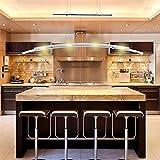 Hengda® LED Pendelleuchte Esszimmer 230V Höhenverstellbar Hängelampe Warmweiss 4-flammig 5W, Metall, Matt nickel [Energieklasse A++]